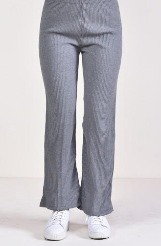 Ribbed Wide Leg Pants 5004-03 Gray 5004-03