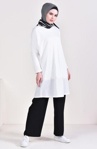 Elastic Waist Wide Leg Pants 25000-01 Black 25000-01