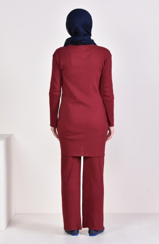 Tunic Pants Binary Suit 3316-19 Dark Claret Red 3316-19