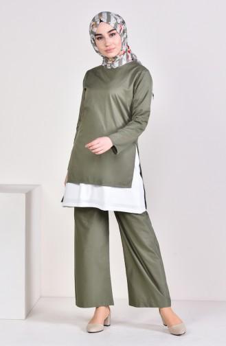 3 Pisces Suit 5227-08 Khaki 5227-08