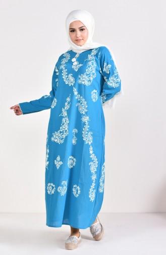 Turquoise İslamitische Jurk 0004-09