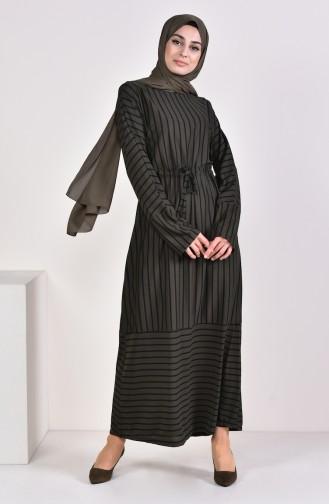 Striped Dress 4166-05 Khaki 4166-05