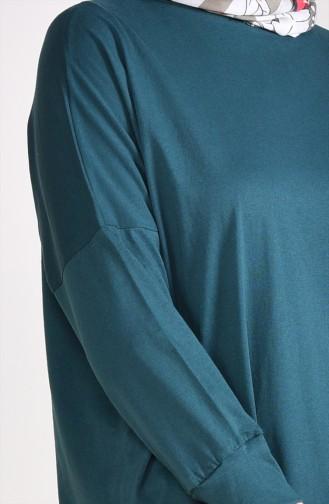 Bat Sleeve Long Tunic 9094-02 Emerald Green 9094-02