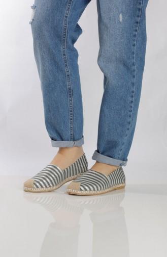 Black Woman Flat Shoe 7712-2
