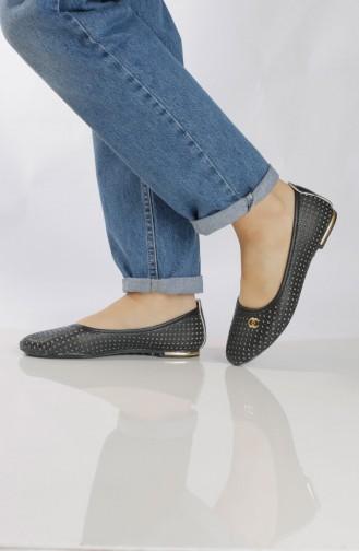 Women´s Flat Shoes (Ballerina ) 95500-0 Black 95500-0