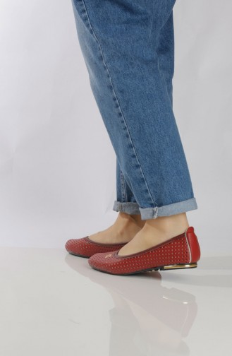 Women´s Flat Shoes (	Ballerina ) 95503-3 Claret Red 95503-3