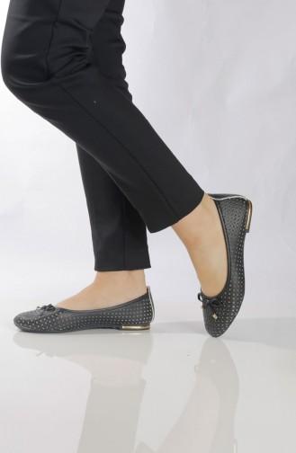Women´s Flat Shoes (Ballerina ) 96501-1 Black 96501-1