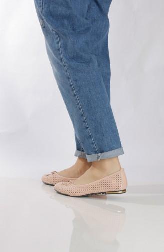 Women´s Flat Shoes (Ballerina ) 96503-3 Powder 96503-3