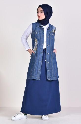 Indigo Skirt 1095A-01