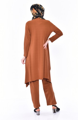 Seasonal 3 Pcs Blouse Suit  0113-07 Taba 0113-07