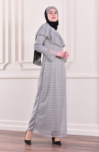Allerli Glittered Evening Dress 9027-02 Gray 9027-02