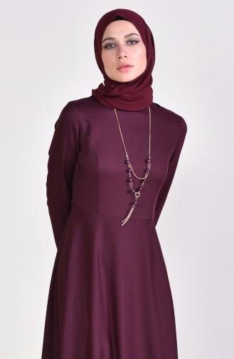 Robe Hijab Cerise 4055-36