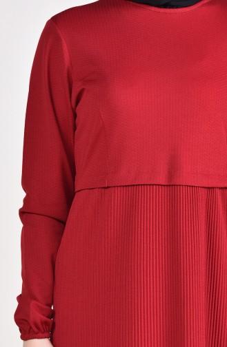 Robe Manches élastique 5254-07 Bordeaux 5254-07