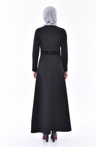 Robe İmprimée 0055-02 Noir 0055-02