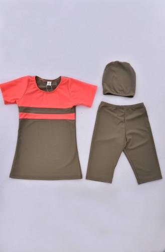 Orange Swimsuit Hijab 0111-08