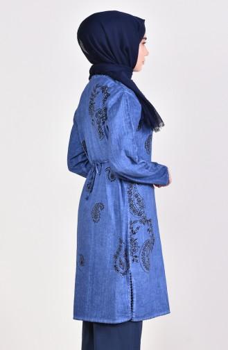 Tunique a Motifs 0005-02 Bleu 0005-02