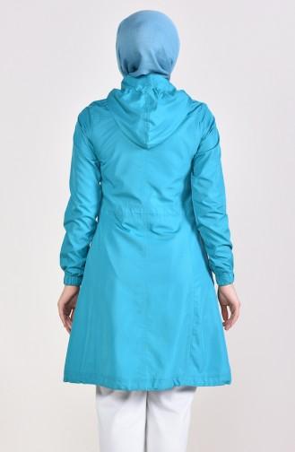 Turquoise Raincoat 0021-03