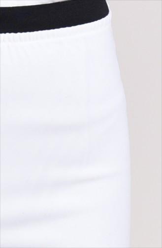 Lastikli Bol Paça Pantolon 1023-01 Ekru 1023-01