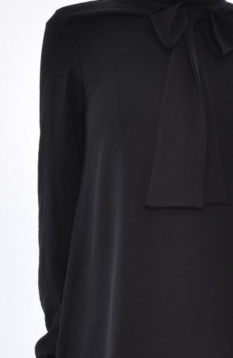 Tunique Asymétrique Col Cravate 1332-05 Noir 1332-05