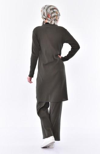 Cardigan Pants Binary Suit 3300-18 Dark Khaki Green 3300-18