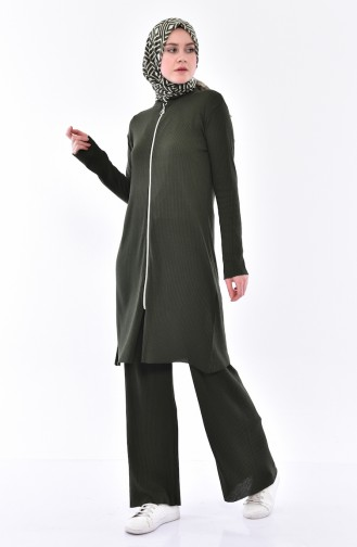 Cardigan Pants Binary Suit  3300-19 Light Emerald Green 3300-19