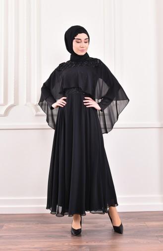 Black İslamitische Avondjurk 0196-01
