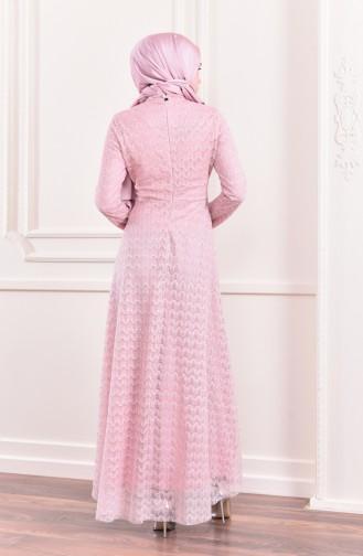 Glittered Evening Dress 8996-03 Powder 8996-03