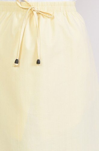 Plated Waist Skirt 1001-02 Yellow 1001-02