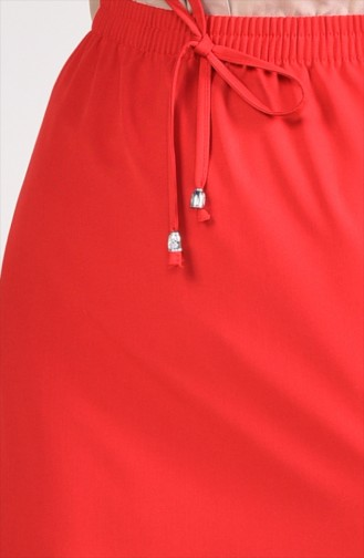 Plated Waist Skirt 1001A-12 Red 1001A-12
