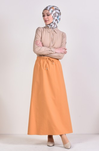 Plated Waist Skirt 1001A-13 Camel 1001A-13