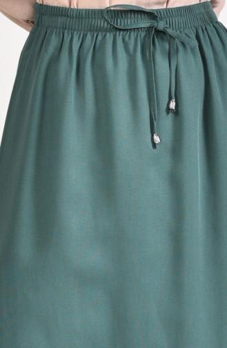 Plated Waist Skirt 1124-01 Green 1124-01