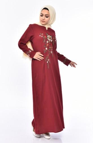 Claret red Dress 0300-06