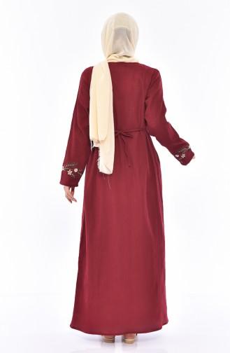 Robe Brodée 0300-06 Bordeaux 0300-06