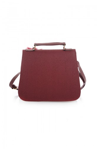 Stilgo Women´s Shoulder Bag TL20Z-13 Claret Red Printed 20Z-13