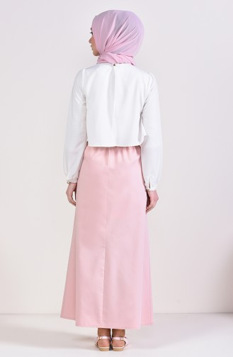 Plated Waist Skirt 1001D-01 Powder 1001D-01