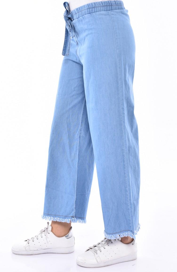 sefamerve pantolon missnac0005 01 4204701556183208727 1 Lastikli Bol Paça Kot Pantolon 0005-01 Kot Mavi