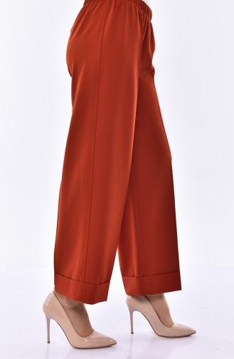 Pantalon Large Taille élastique 3087-13 Brique 3087-13