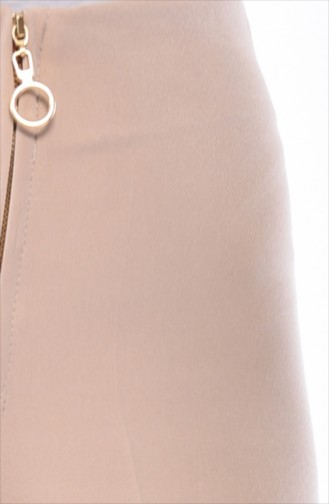 Fermuarlı Bol Paça Pantolon 3095-15 Taş