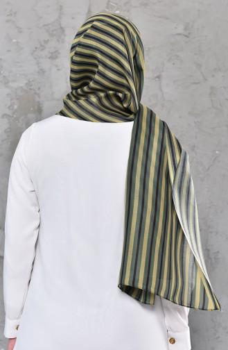 Gemusterter Baumwollschal 95269-01 Grün 95269-01
