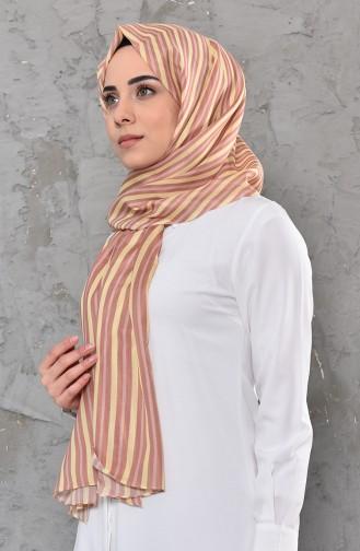 Patterned Cotton Shawl 95269-04 Yellow 95269-04