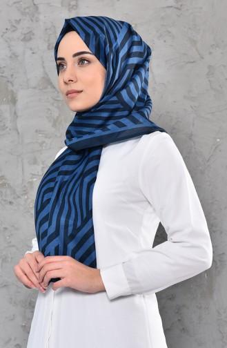 Patterned Cotton Shawl 95270-06 light Navy 95270-06