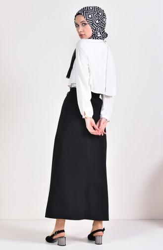 Jupe Taille élastique 1051-01 Noir 1051-01