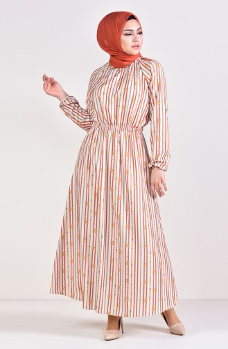Robe Taille élastique 5116B-03 Beige Tabac 5116B-03