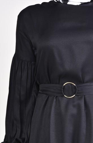 Volanlı Tunik 1172-01 Siyah 1172-01