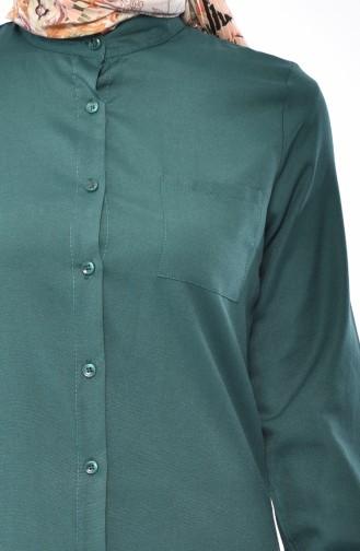 Tunika mit Tasche 2484-01 Smaragdgrün 2484-01