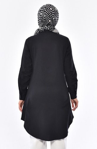 Pocketed Judge Collar Tunic 2484-04 Black 2484-04