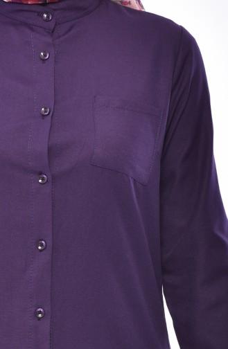 Judge Collar Pocket Tunic 2484-10 Purple 2484-10