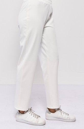 DURAN Elastic Straight Leg Pants 2051-05 White 2051-05