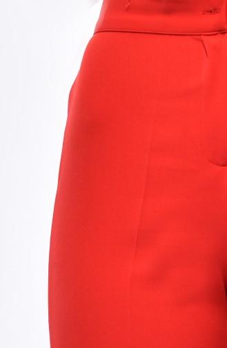 Pantalon a Boutons 1102-14 Rouge 1102-14