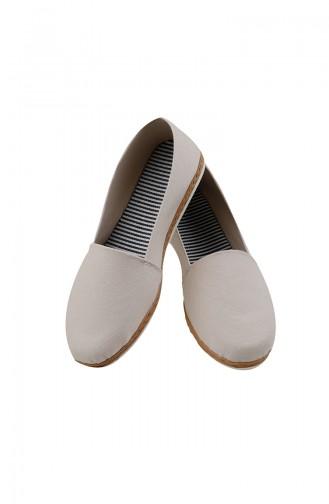 Dame Stoff Ballerina 0123-02 Creme 0123-02
